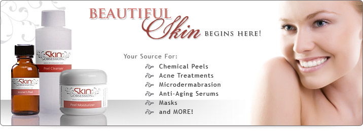 Beautiful skin begins here! Your source for chemical peels, acne treatments, microdermabrasion, anti-aging serums, masks and more.