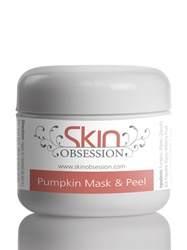 Pumpkin Enzyme Mask & Peel with Glycolic Acid - helps with Acne Scars, Pimples, Wrinkles, Dark Circles, & Acne